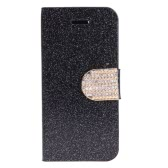 Fashion Wallet Case Flip Leather Stand Cover with Card Holder for iPhone 5S 5C 5 Black