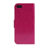 Fashion Wallet Case Flip Leather Stand Cover with Card Holder for iPhone 5S 5C 5 Rose