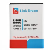 Link Dream 3.7V 3100mAh Rechargeable Li-ion Battery High Capacity Replacement for Galaxy EB615268VU Note I I9220 N7000 I717 T879