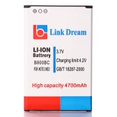 Link Dream 3.7V 4700mAh Rechargeable Li-ion Battery Replacement for Samsung Galaxy Note 3 III Neo N7505