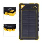 8000mAh Solar Charger Dual USB/Micro Ports Solar Power Bank External Battery for Smartphone iPad Camera iPhone Samsung