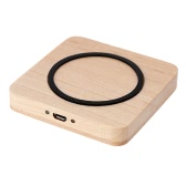 Wireless Charger Charging Stand for iPhone 6 6 Plus Sansung S6 S6 edge Smartphone Square Wooden Simple Fashinable Design High Efficiency High Speed Ultra-thin Antiskid Surface Anti-scratch Safe Stable Durable
