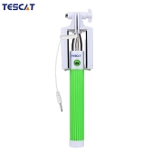 "TESCAT TS900 Wire Shaft Telescoping Extending Selfie Monopod Stick Holder Remote Button with Clip 8""-36"" for iPhone 4S 5 5S 5C 6 6 Plus with iOS 4 or above for Samsung S6 S6 edge Sony Xiaomi 1 2 4 HTC Smartphone with Android 4.2 or above Own Removable Wide Angle Mirror Fashionable Stable Safe High Efficiency Antiskid Flexible Perspective Durable"