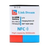 Link Dream 3.7V 5000mAh High Capacity Rechargeable Li-ion Battery Replacement for Samsung Galaxy SIII(S3) / i9300 (EB-L1G6LLU) with NFC & Cover Back Door