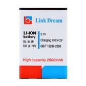 リンク夢 3.7 v 2500 mah の携帯電話 lg 電子 P970 の充電式リチウム イオン バッテリーの交換/MS840/L5/E610/E615/E612 (BL 44JN)