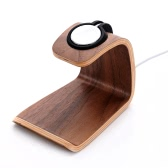SamDi Wooden Charging Stand Holder Station Dock Cradle for Apple Watch iWatch 38mm 42mm All Edition for iPhone 6 6S 6 Plus 6S Plus 5S 5C 5 Samsung Galaxy S6 S6 edge Note5 HTC Smartphone Tablets Eco-friendly Material Stylish Anti-skid Anti-scratch Lightweight Portable