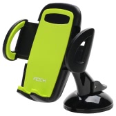ROCK Deluxe Windshield Phone Holder Universal Car Mobile Phone Stand Adjustable Phone Holder Head 360 Degree Rotation for iPhone 7 6S Plus 6  Samsung Galaxy S6 S7 Edge S5 within 3.5~6.0inch Smartphones
