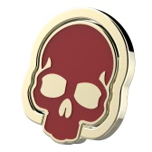 Universal Cell Phone Finger Ring Holder Skull Skeleton Design 360° Rotation Stand Grip Kickstand Magnetic Suction Car Mount for Tablets Smartphones