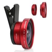 Zakitaneポータブルカメラレンズ0.5Xスーパーワイドレンズ15Xマクロレンズクリップ付き携帯電話のカメラレンズiPhoneXサムスンS8のAndroid / iOSの電話タブレットPCノートブック