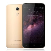 "HOMTOM HT17 Smartphone 4G FDD-LTE 3G WCDMA Android 6.0 Marshmallow OS Quad Core MTK6737 5.5"" Screen 1GB RAM 8GB ROM 5MP 13MP Dual Cameras Smart Gestures Wake Gesture Power Saving Mode FingerPrint Quick Charge"