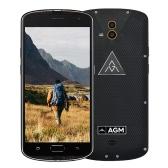 オリジナルAGM X1トライ証明スマートフォン4G LTE携帯電話の5.5inch FHDスーパーAMOLED 1080P画面クアルコムのSnapdragon 617オクタコアプロセッサアンドロイド5.1 OS 4ギガバイトのRAM 64ギガバイトROM 13.0MPデュアルリアカメラ5.0MPフロントカメラ5400mAh大容量バッテリーIP68指紋GPS、NFC無線LAN携帯電話