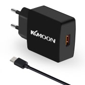 KKmoon K6 Charge Suit Charger Plug Charger Adapter QC3.0 + Type C USB Cable for Type-C Mobile Phone Tablet PC