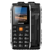 UHANS V5 Feature Phone 2G GSM 6531DA 1.7 Inches 128*160Pixels Screen 32M+32M 0.3MP Back Camera Video Audio FM Radio TF Card Flashlight Big Keys Words Loud Volume 2500mAh Battery