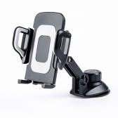Universal 360°Rotation Automatic Locked Car Mobile Phone Bracket Windshield Mount Holder for GPS Smartphone 3.5-7inch
