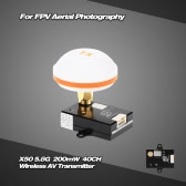 X50-6 5.8G 600mW 40CH Wireless AV Transmitter for FPV Aerial Photography