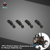 4Pcs Original WLtoys K989-39 Upper Suspension Arm for WLtoys  K989 K979 K999 K969 1/28 Scale  RC Car