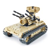 502Pcs Utoghter 69004 2.4G RC Battle Tank Building Blocks Kits Toy Bricks Anti-aircraft Tank Car Model
