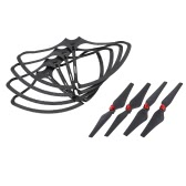 FQ777 RC Part 2 Pairs Propeller CW CCW and 4pcs Protective Frame for FQ02W RC Quadcopter