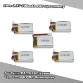 5Pcs 3.7V 800mAh 25C Lipo Battery for Syma X5C X5SC X5SW Topselling Q7 RC Quadcopter