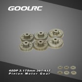GoolRC 48DP 3.175mm 36T 37T 38T 39T 40T 41T Pinion Motor Gear Combo Set for RC Car Brushed Brushless Motor