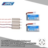 Original JJRC H31 Spare Part 2 Pairs CW/CCW Driving Motor and 2 Pcs 3.7V 400mAh Li-po Battery for JJRC H31 and GoolRC T6 RC Quadcopter