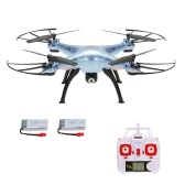 Original SYMA X5HC 2.4GHz 6-axis Gyro 2.0MP Camera Drone Height Hold CF Mode Quadcopter with One Extra Battery