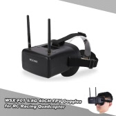 WSX-F01 5.8G 40CH Raceband FPV Goggles Video Glasses with Dual Antenna for QAV250 Racer250 GoolRC 210 RC Drone FPV Racing Quadcopter