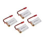 4pcs 3.7V 650mAh LiPo Battery JST Plug & 4 in 1 Parallel USB Charger Combo for MJX X400 X800 X300 X300C JXD 509G