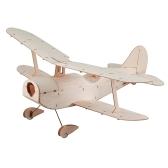 Copernicus Balsawood 296mm Wingspan Biplane Warbird Aircraft Light Wood Airplane Kit w/ EPS7 Brushed Motor 5030 Prop