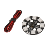 Matek RGB LED Circle Board 7-colors X8 16V For FPV RC Multicopter Quadcopter RC Car