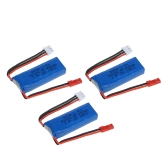 3Pcs 7.4V 450mAh 20C Lipo Battery with Connecting Cable for WLtoys K969 K989 K999 P929 P939 RC Car