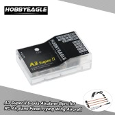 HOBBYEAGLE A3 Super II 6-axis Airplane Gyro Flight Controller Stabilizer System Gyro with 6 Flight Modes for RC Airplane Fixed Flying Wing Aircraft