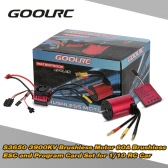 Original GoolRC S3650 3900KV Sensorless Brushless Motor 60A Brushless ESC and Program Card Combo Set for 1/10 RC Car Truck