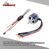 TOMCAT TMC-011 TC-P-2808 1320KV 13T Motor & Skylord 20A Brushless ESC with 5V/2A BEC for RC Airplane