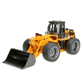 Original HUINA TOYS NO.1520 2.4G 6CH Mini RC Bulldozer Engineering Vehicle Truck Toys for Children