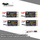 4pcs Favourite LittleBee-Spring BLHeli_S 30A OPTO 2-6S Brushless ESC Dshot for QAV280 F330 F450 FPV Racing Drone