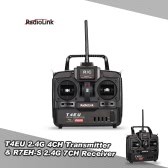 Original RadioLink T4EU-6 2.4G FHSS 6CH Transmitter & R7EH-S 7CH Receiver for RC Helicopter Airplane