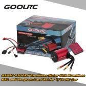 Original GoolRC S3650 4300KV Sensorless Brushless Motor 60A Brushless ESC and Program Card Combo Set for 1/10 RC Car Truck