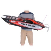 Original VANTEX Aqua Mania 1300BP(A) 60KM/h High Speed RTR Electric Fiberglass RC Boat with 2.4G Pistol Transmitter