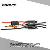 Original GoolRC 160A Waterproof Brushless Electronic Speed Controller ESC with 5.5V/3A BEC for RC Boat