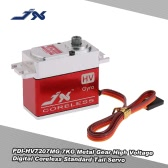 JX PDI-HV7207MG 7KG Metal Gear High Voltage Digital Coreless Standard Tail Servo for RC 550-700 Airplane Helicopter