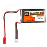 ZOP Power 2S 7.4V 450mAh 50C JST Plug LiPo Battery for 80 90 100 FPV Racing Quadcopter RC Car Boat