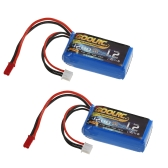 2pcs GoolRC 7.4V 1200mAh 25C JST Plug LiPo Battery for WLtoys A949 A959 A969 A979 K929 RC Car V353 Quadcopter