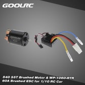 GoolRC 540 55T 4 Poles Brushed Motor and WP-1060-RTR 60A Waterproof Brushed ESC Electronic Speed Controller with 5V/2A BEC   for 1/10 RC Car