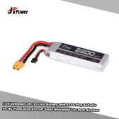 JHpower 7.4V 2200mAh 25C 2S LiPo Battery with XT60 Plug for RC Fixed-wing Aircraft Small Helicopter Drone Car Boat Airplane