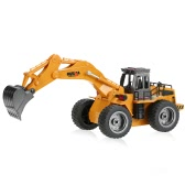 Original HUI NA TOYS NO.1530 2.4G 6CH Mini RC Excavator Engineering Vehicle Truck Toys for Children