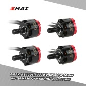 2 Pair Original EMAX RS1306 4000KV CW/CCW Brushless Motor for QAV130 QAV150 H150 QAV180 RC FPV Quadcopter Racing Drone