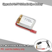 Upgraded 3.7V 820mAh Lipo Battery for MJX X800 X300 Skytech TK110HW RC Drone