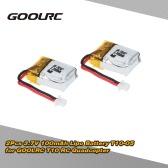 Original GoolRC 2Pcs 3.7V 100mAh Lipo Battery T10-05  RC Part for GoolRC T10 RC Quadcopter
