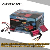 Original GoolRC S3660 3800KV Sensorless Brushless Motor 60A Brushless ESC and Program Card Combo Set for 1/10 RC Car Truck